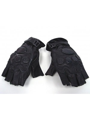 SWAT Army Half Finger Airsoft Paintball Leather Gloves