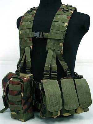 US Army Delta Elite Seal Molle Hydration Vest Camo Woodland