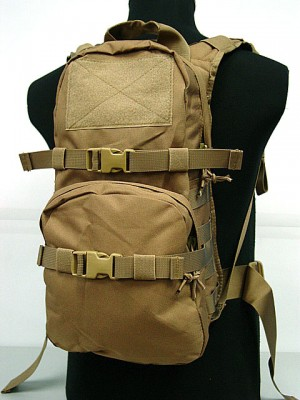 Tactical Utility Molle 3L Hydration Water Backpack Coyote Brown