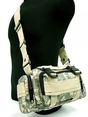 Molle Utility Shoulder Waist Pouch Bag Digital ACU Camo