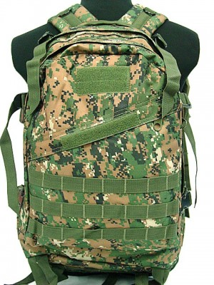 3-Day Molle Assault Backpack Digital Camo Woodland