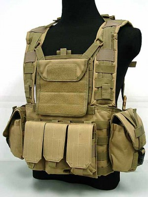 Airsoft Molle Canteen Hydration Combat RRV Vest Coyote Brown