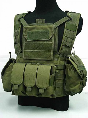 Airsoft Molle Canteen Hydration Combat RRV Vest OD
