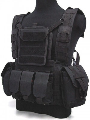 Airsoft Molle Canteen Hydration Combat RRV Vest Black