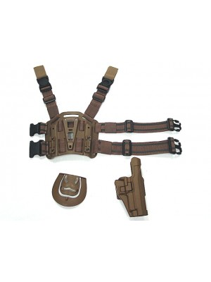CQC SIG P220/P226 RH Pistol Paddle & Belt Drop Leg Holster Tan