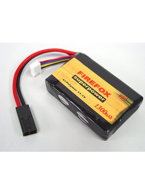 Firefox 11.1V 1300mAh Li-Po Li-Polymer Battery for PEQ-15 Box