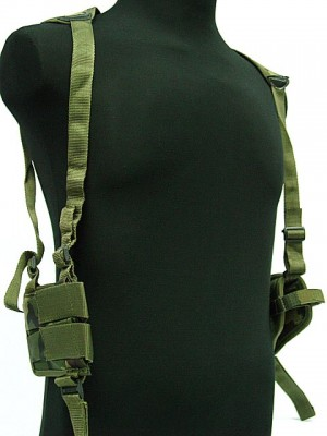 US Army Shoulder Pistol Holster Mag Pouch Camo Woodland