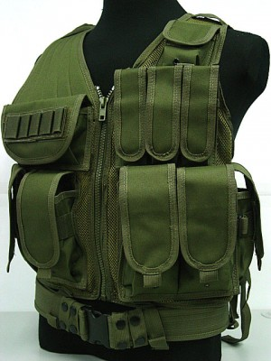 Deluxe Airsoft Tactical Combat Mesh Vest OD