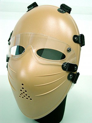 Tactical Full Face Airsoft Killer Mask w/ Goggle Tan