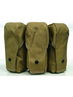 Airsoft Molle Triple AK Magazine Pouch Coyote Brown