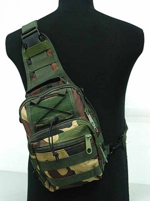 Tactical Utility Gear Shoulder Sling Bag Camo Woodland S