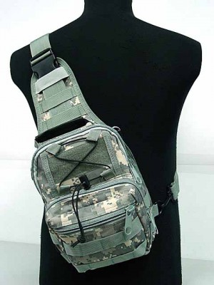 Tactical Utility Gear Shoulder Sling Bag Digital ACU Camo S