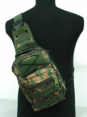 Tactical Utility Gear Shoulder Sling Bag Digital Camo Woodland S