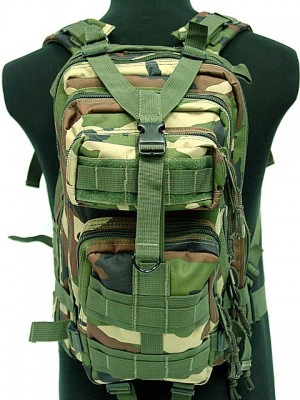 Level 3 Molle Assault Backpack Camo Woodland