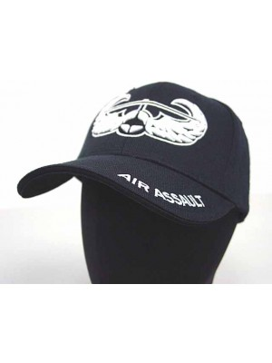 US Army Air Assault Logo Military Baseball Cap Hat Black