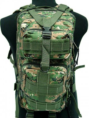 Level 3 Molle Assault Backpack Digital Camo Woodland