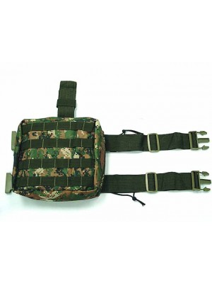 Molle Drop Leg Panel Utility Waist Pouch Bag Digital Woodland