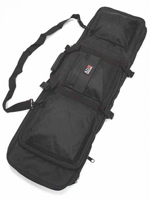 "40"" Dual Rifle Carrying Case Gun Bag Black #B"