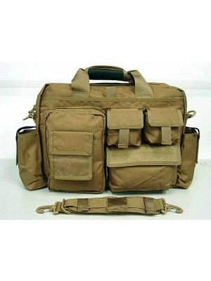 Airsoft Utility Briefcase Shoulder Bag Coyote Brown