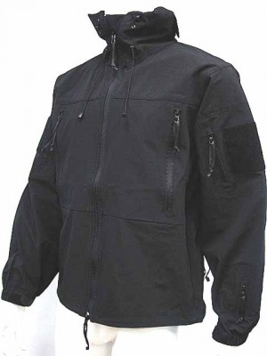 Gen 4 Hoodie Soft Shell Waterproof Jacket Black