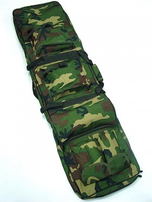 "48"" Dual Rifle Carrying Case Gun Bag Camo Woodland"