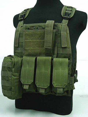 US Marine Assault Molle Plate Carrier Vest OD