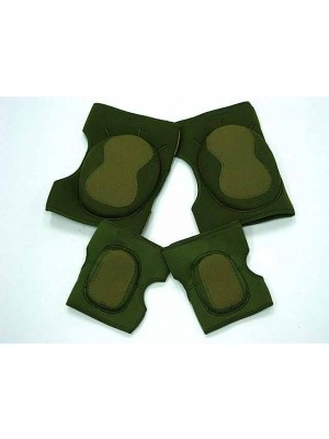 Airsoft Paintball Neoprene Knee & Elbow Pads OD