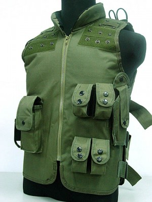 SWAT Airsoft Wargame Combat Tactical Assault Vest OD