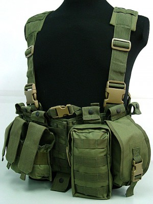 US Delta Force Elite Hydration Molle Vest OD