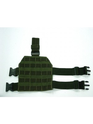 Airsoft Molle Drop Leg Panel Platform OD