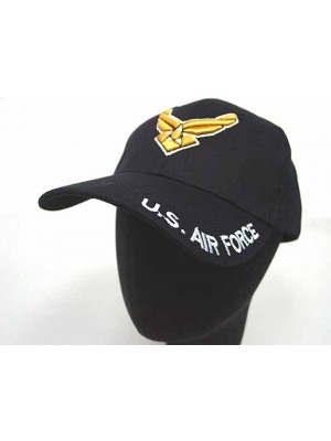 US Army Air Force Logo Military Baseball Cap Hat Black