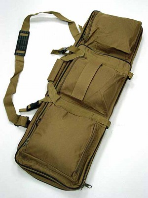"33"" Dual Rifle Carrying Case Gun Bag Coyote Brown #B"