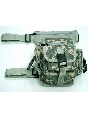 Drop Leg Utility Waist Pouch Carrier Bag Digital ACU Camo