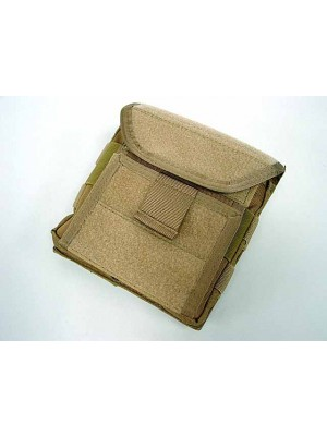 Molle Velcro Combat Admin Map ID Gear Pouch Coyote Brown