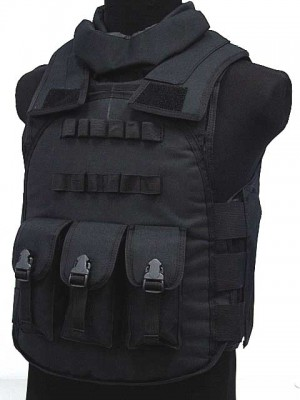 Airsoft Paintball Tactical Combat Assault Vest Black