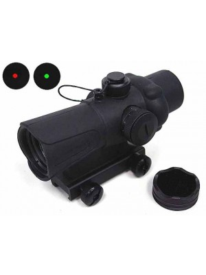 1x30 30mm Red/Green Dot Sight Scope w/Killflash QD Mount