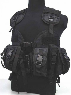 US Navy Seal CQB LBV Modular Assault Vest Black