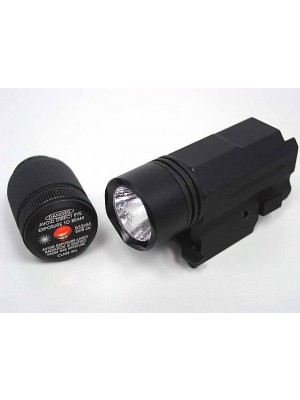Tactical Pistol CREE LED Flashlight & Green Laser Combo Set