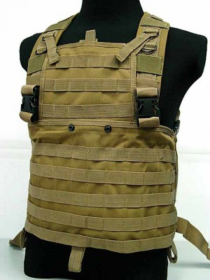 Molle Chest Rig Platform Carrier Vest Coyote Brown