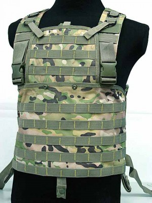 Molle Chest Rig Platform Carrier Vest Multi Camo