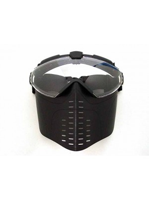 BATTLEAXE Pro-Goggle Full Face Mask with Fan Black