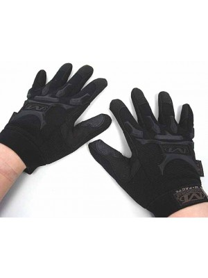 Full Finger Airsoft Tactical M-Pact Style Gloves Black