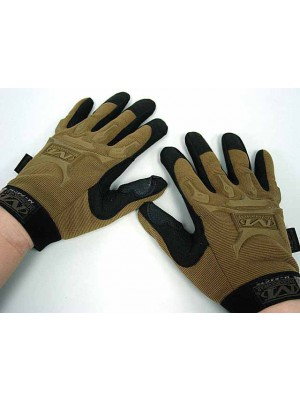Full Finger Airsoft Tactical M-Pact Style Gloves Coyote Brown