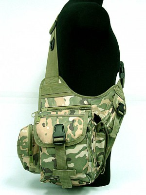 Military Universal Utility Shoulder Bag Multi Camo