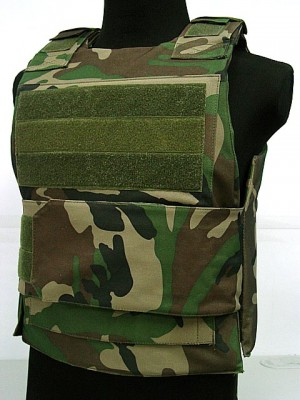 Black Hawk Down Body Armor Plate Carrier Vest Camo Woodland