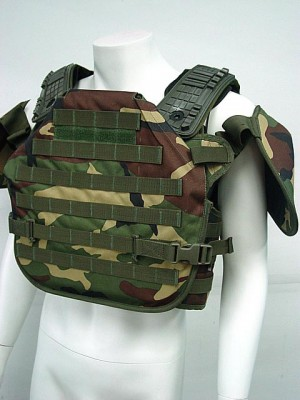 Tactical Molle Plate Carrier Recon Armor Vest Camo Woodland