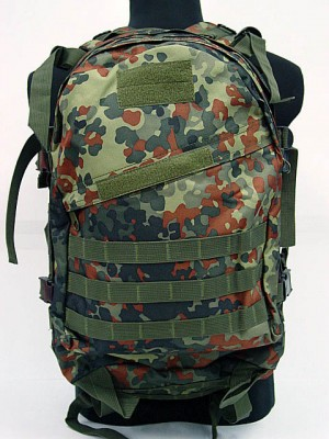 3-Day Molle Assault Backpack German Camo Woodland