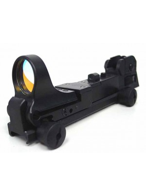 CMore Style Red Dot Sight Reflex with AR Rear Iron Sight Black