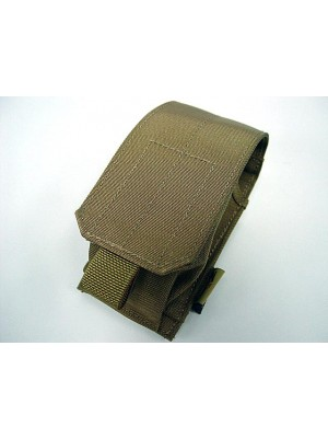 Flyye 1000D Molle Single Smoke/Flash Grenade Pouch Coyote Brown
