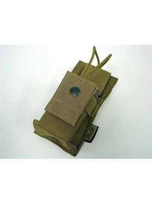 Flyye 1000D Molle Short Radio/Walkie Talkie Pouch Coyote Brown